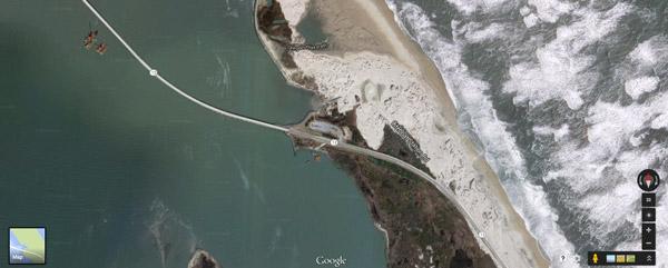 Overhead Map - Pea Island Coast Guard Station